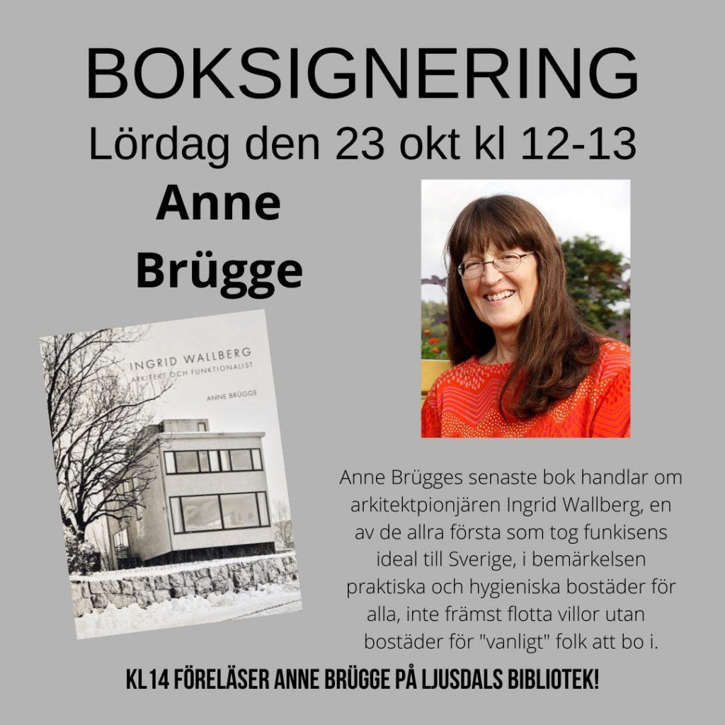 Boksignering med Anne Brügge